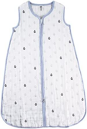 Hudson Baby Muslin Sleeping Bag, Blue Anchors, 18-24 Months